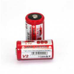 IMR 18350 800 mah button Top